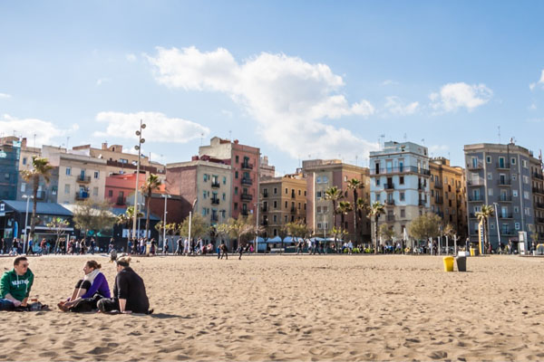 Vista del popular barrio de la Barceloneta