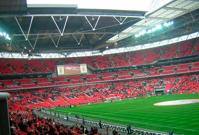 Estadio de fútbol de Wembley en Liverpool