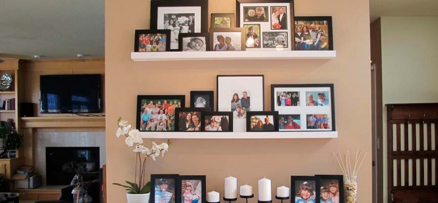 ideas para decorar con fotograf as familiares