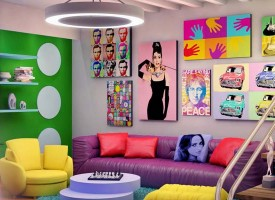Decoración estilo pop